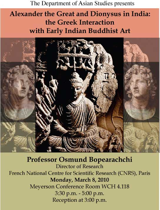 Alexander the Great and Dionysus in India: The Greek Interaction with Early Indian Buddhist Art