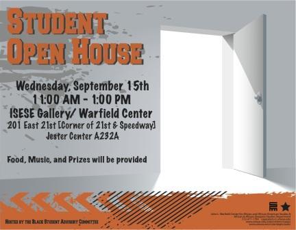 Undergraduate Student Open House