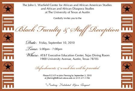 Black Faculty & Staff Reception