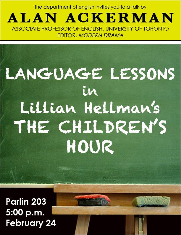 Language Lessons in Lillian Hellman's THE CHILDREN'S HOUR