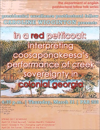 In a Red Petticoat: Interpreting Coosaponakeesa's Performance of Creek Sovereignty in Colonial Georgia