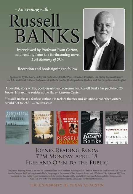 An evening with Russell Banks