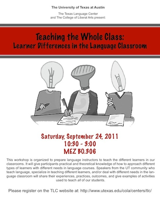 Teaching the Whole Class:  Learner Differences in the Language Classroom