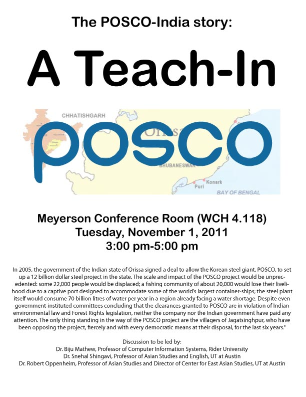 The POSCO-India Story: A Teach-In