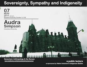Audra Simpson: Sovereignty, Sympathy and Indigeneity
