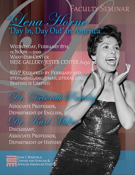 Faculty Seminar: 'Lena Horne