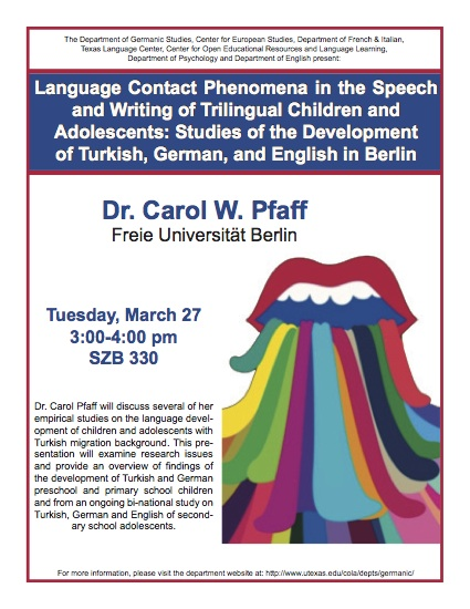 Language Contact Phenomena in the Speech and Writing of Trilingual Children and Adolescents: Studies of the Development of Turkish, German, and English in Berlin