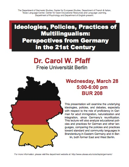 Ideologies, Policies, Practices of Multilingualism: Perspectives from Germany in the 21st Century