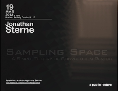 Jonathan Sterne: Sampling Space