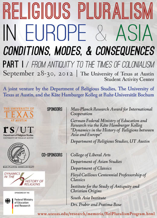 Religious Pluralism in Europe & Asia: Conditions, Modes, and Consequences (Conference)