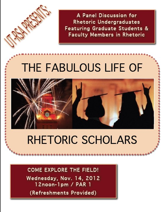 Panel Discussion: The Fabulous Life of Rhetoric Scholars