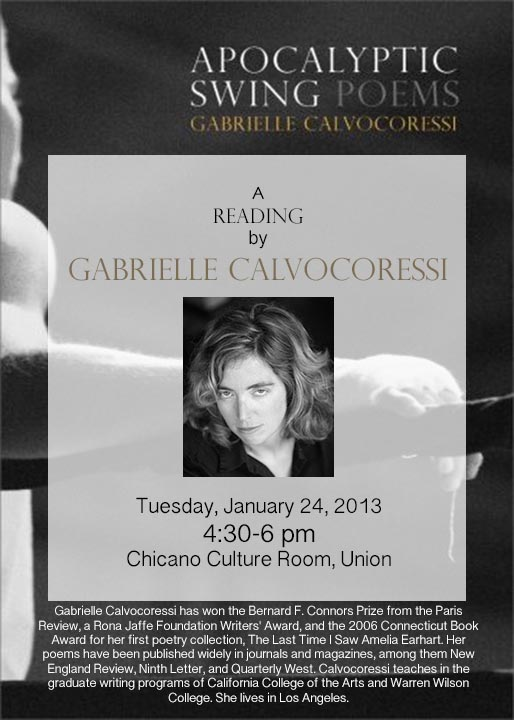 A Reading by Gabrielle Calvocoressi
