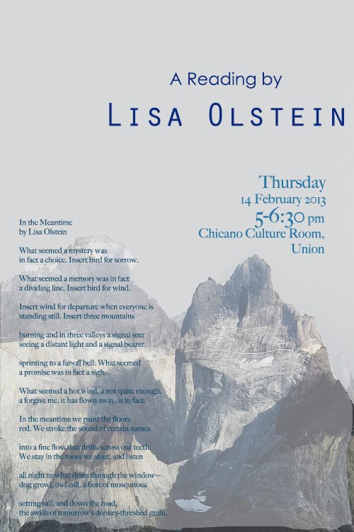 A Reading by Lisa Olstein