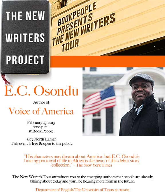 The New Writer's Tour: E.C. Osondu