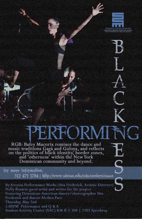 PERFORMING BLACKNESS: Areytos Performance Works Featuring Sita Frederick