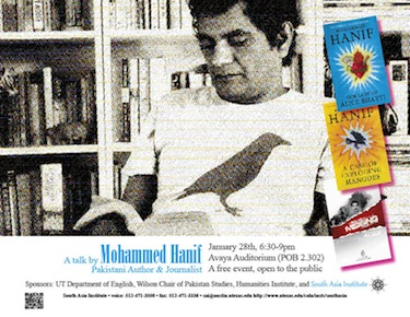 Public Talk by Pakistani Author and Journalist Mohammed Hanif
