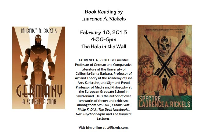Book Reading by Laurence A. Rickels