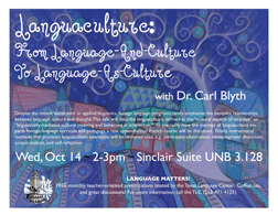 Languaculture: From Language-And-Culture To Language-As-Culture with Dr. Carl Blyth