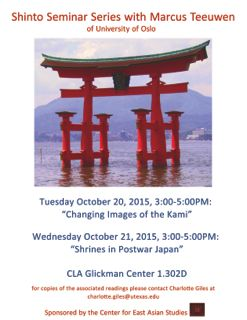 Marcus Teeuwen: Shinto Seminar Lecture 1:  Changing Images of the Kami