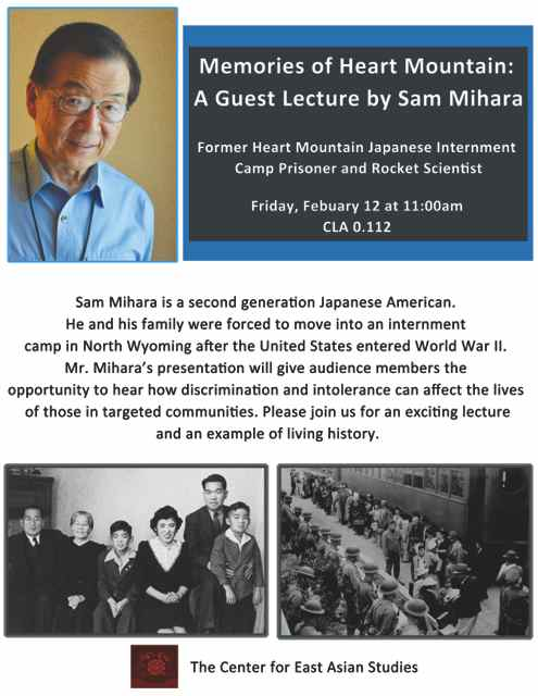 Memories of Heart Mountain: A Guest Lecture by Sam Mihara