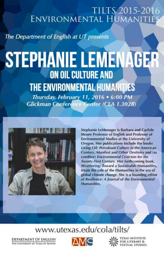 Stephanie LeMenager on Oil Culture and the Environmental Humanities