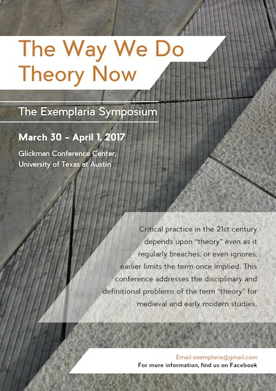 Exemplaria: The Way We Do Theory Now