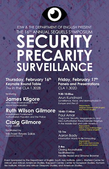 16th Annual Sequels Symposium: Security, Precarity, Surveillance