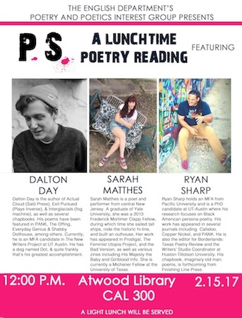 PS: Poets & Scholars Lunchtime Poetry Reading