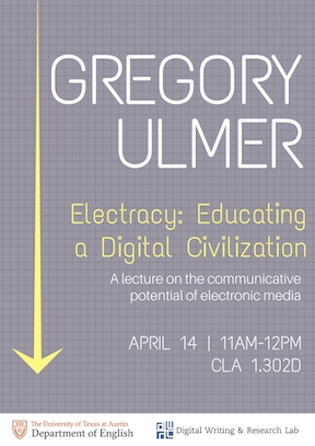 Gregory Ulmer Lecture: