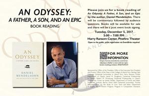 Daniel Mendelsohn at UT- Book Reading, December 5