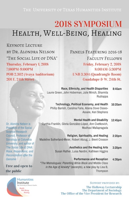 Humanities Institute 2018 Symposium: Health, Well-Being, and Healing