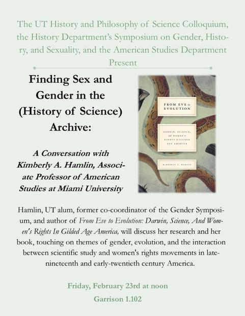 Public Lecture: UT AMS PhD Dr. Kimberly Hamlin