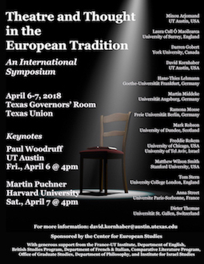 Theatre and Thought in the European Tradition: An International Symposium