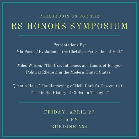 RS Honors Symposium