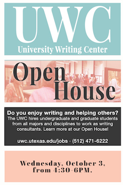 University Writing Center Open House