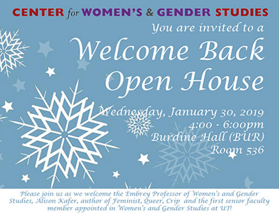 Welcome Back Open House - Jan. 30