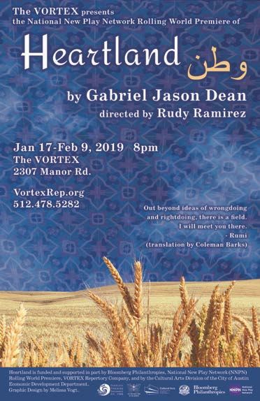 Theater performance of Heartland (by Rudy Ramirez), and conversation with Carla Petievich
