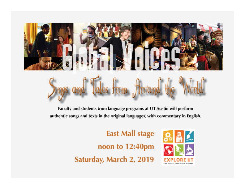 Global Voices: Songs and Tales from Around the World - Explore UT