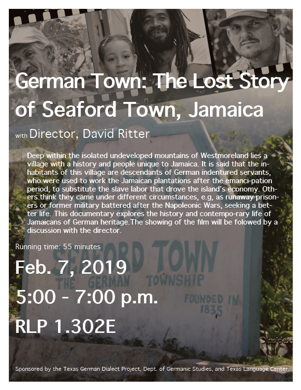German Town: The Lost Story of Seaford Town, Jamaica
