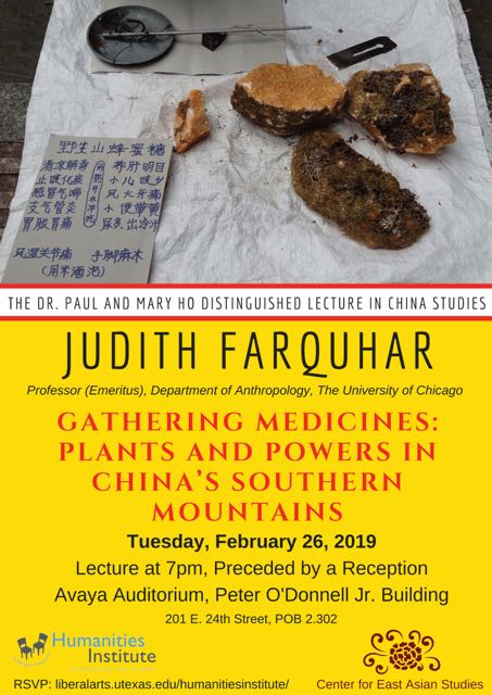 Judith Farquhar Presents Ho Lecture on
