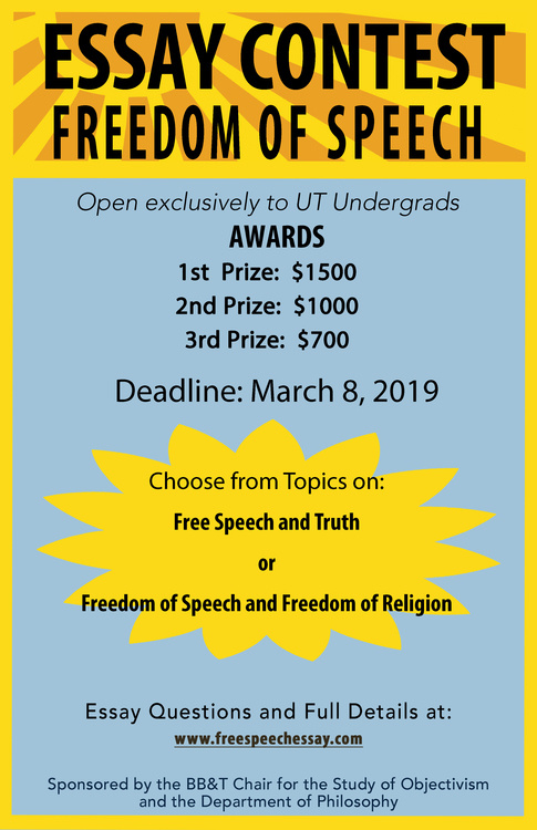 Freedom of Speech Essay Contest