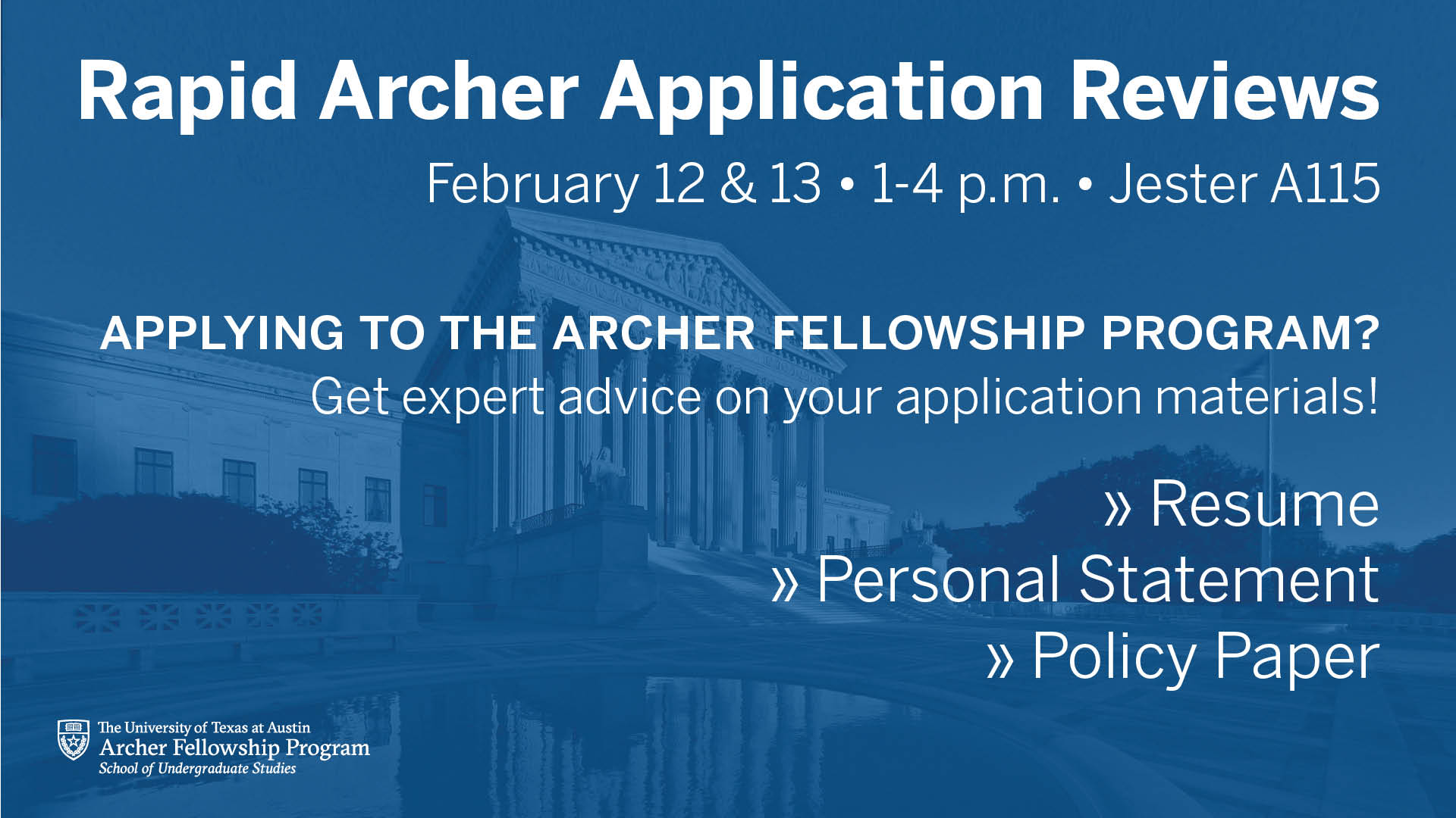 Archer Fellowship Application Review