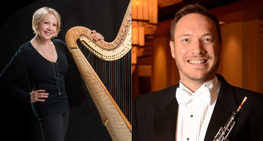 Andrew Parker (Oboe) and Delaine Leonard (Harp) Performance