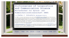 Dictionaries of Linguistics and Communication Science