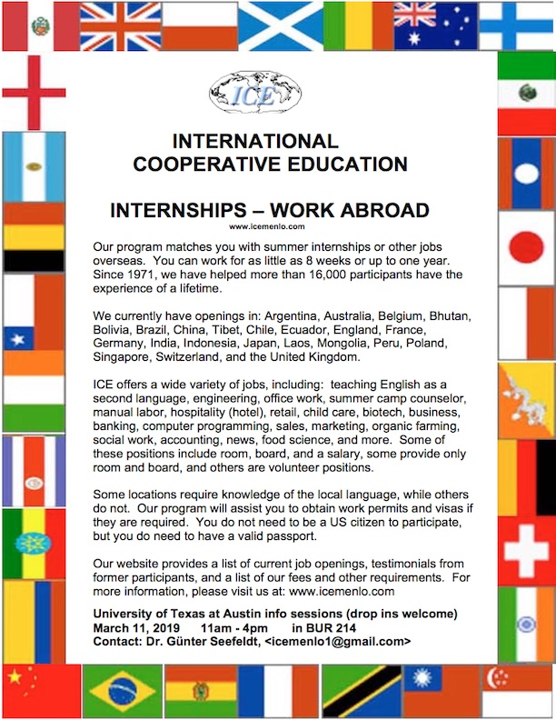 ICE Internships & Work Abroad