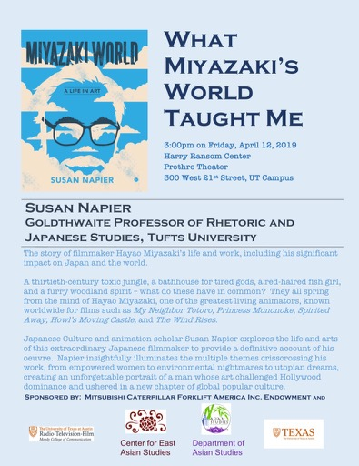 Susan Napier Book Talk:  What Miyazaki's World Taught Me