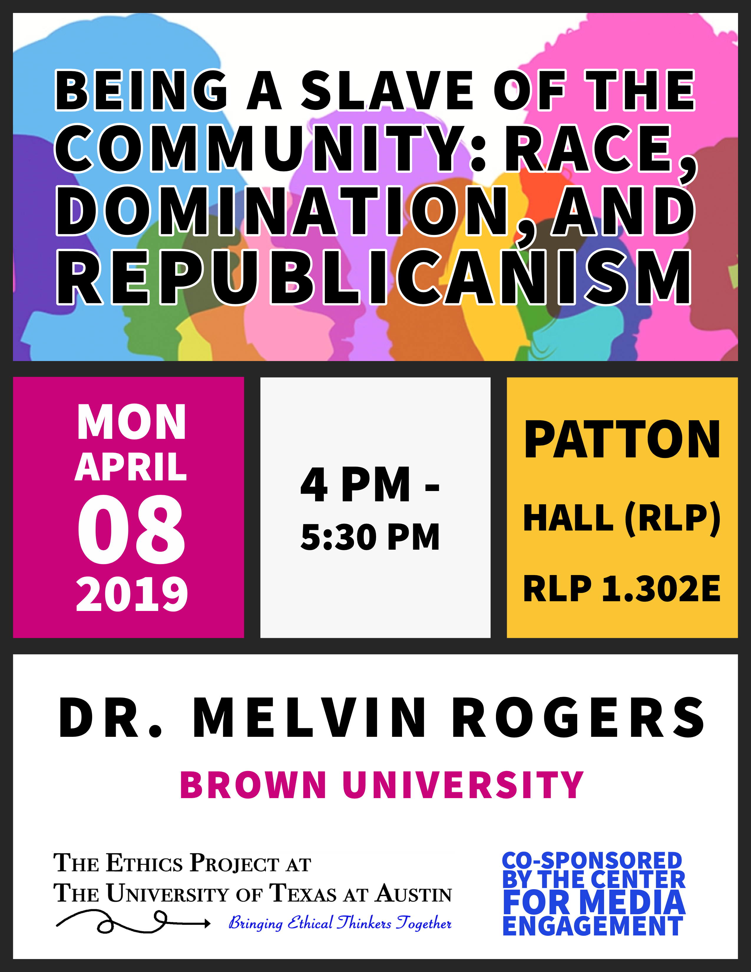 Dr Melvin Rogers poster