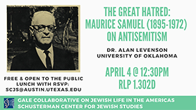 Talk: The Great Hatred: Maurice Samuel on Antisemitism