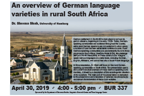 An overview of German language varieties in rural South Africa