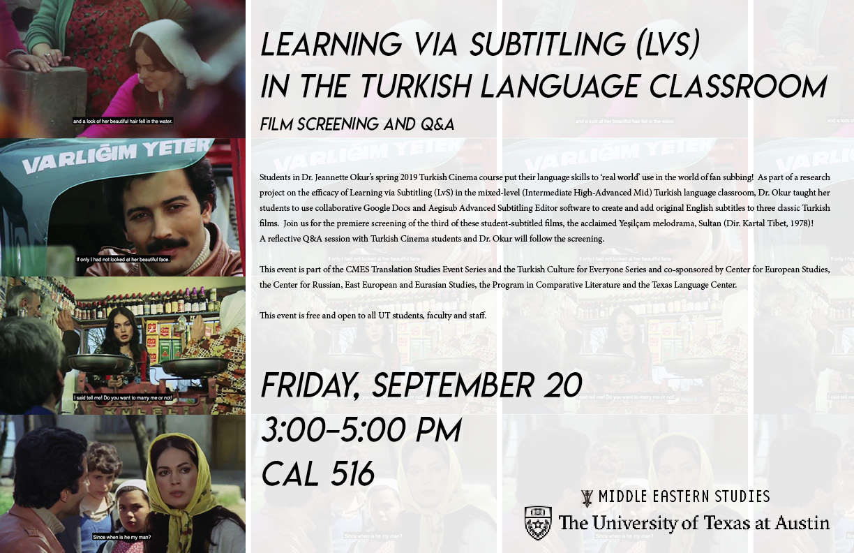 Learning with Subtitling in the Turkish Language Classroom
